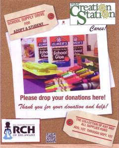 School Supplies Drive for Adopt a Student