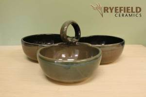 Three Dish Condiment Tray